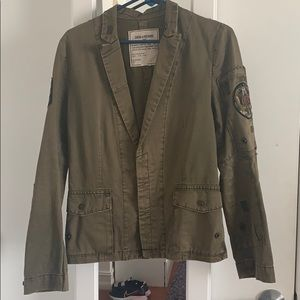 Zadig & Voltaire military jacket in green